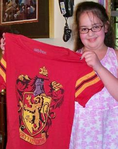 A Griffindor shirt to sleep in.