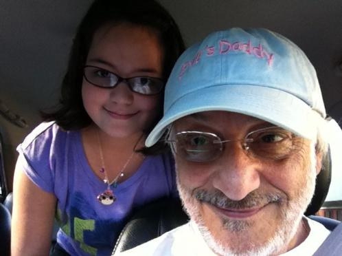 A selfie with Daddy. (August 20, 2014)
