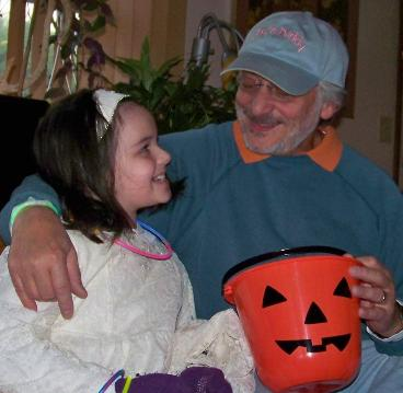 Daddy took me trick or treating.  (October 31, 2012)