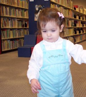 Mommy takes me to the library every week.