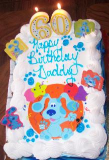 I picked out Daddy's birthday cake.