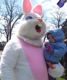 I met the Easter Bunny at the park.