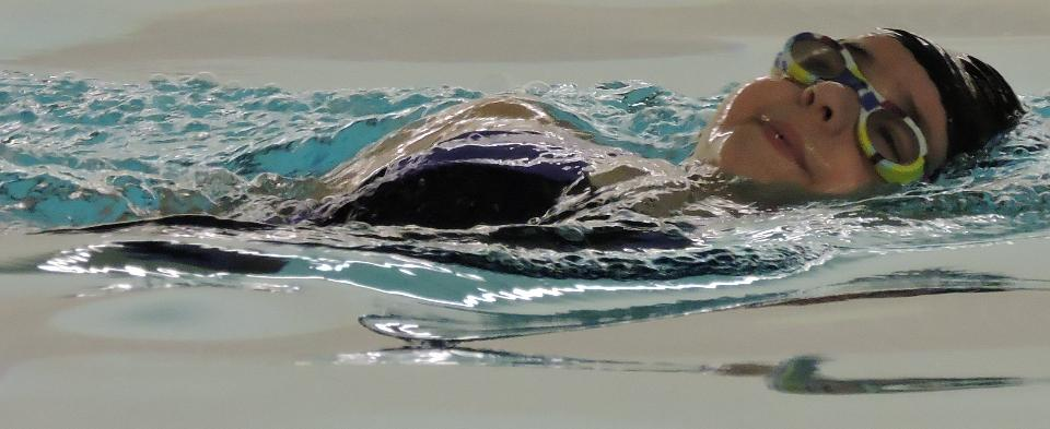 Working on my backstroke.