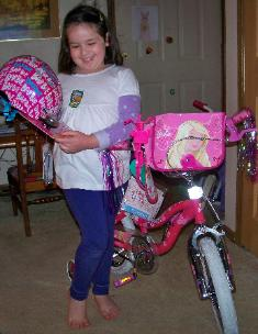 ... a new bike from Mommy and Daddy!