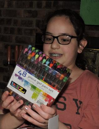... composition books and gel pens!