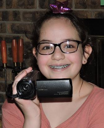 My first video camera from Mommy and Daddy!