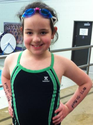Tonight is my first swim meet!