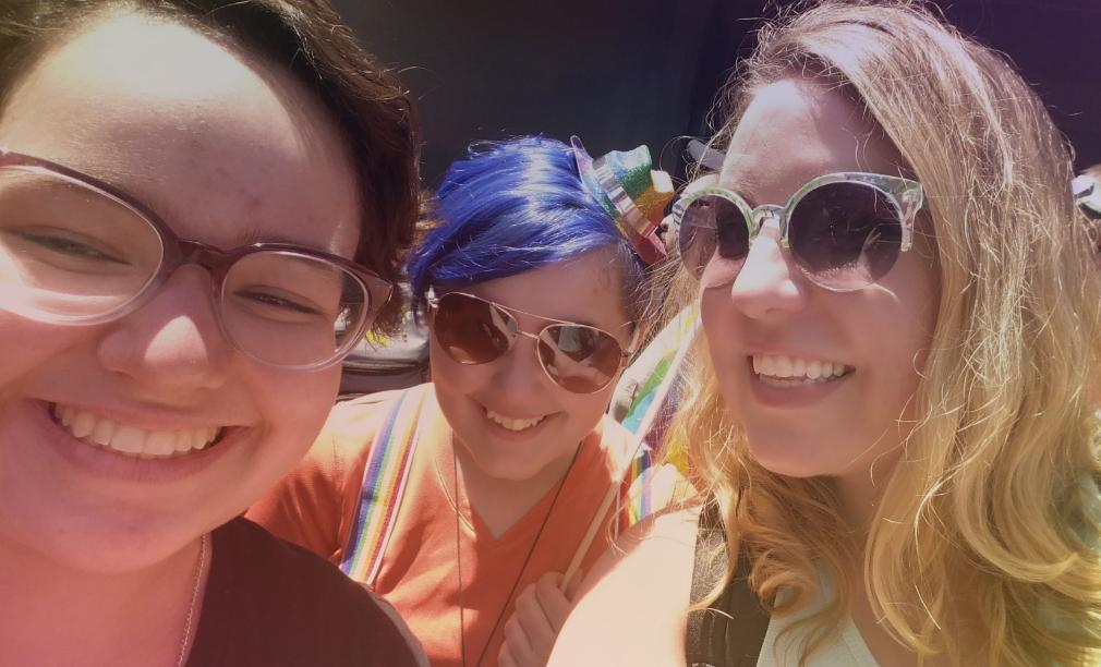 Samantha took me and Julianna to the Pride Parade.