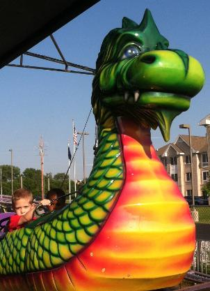 Brayden rode the dragon wagon and the ...