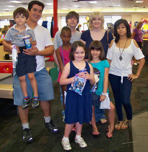 My friend Sabrina's birthday party at Chuck E. Cheese's