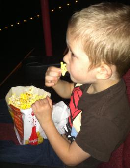 Brayden's first time ever seeing a movie in a theater!