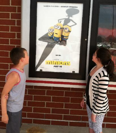 We took Lucas to see the Minions.