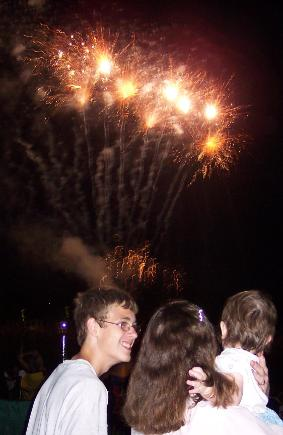 ... my first ever fireworks! (July 3, 2005)