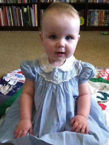 This is one of Mommy's baby dresses.