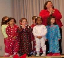 I played a little kid in the Christmas program.