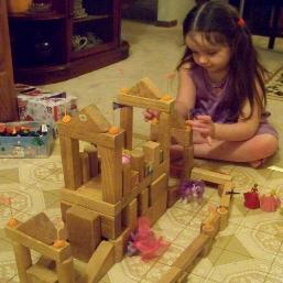 Mommy built me this very cool castle!