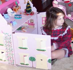 Santa brought me a doll house! (Christmas 2007)