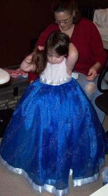 Mommy made me a Cinderella dress!