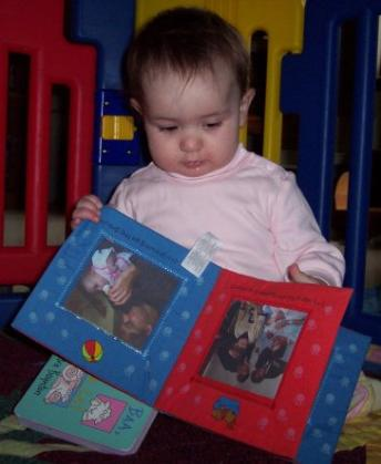 Mommy made me my very own book about me!