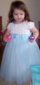 Mommy made me a Cinderella dress! (Easter 2007)