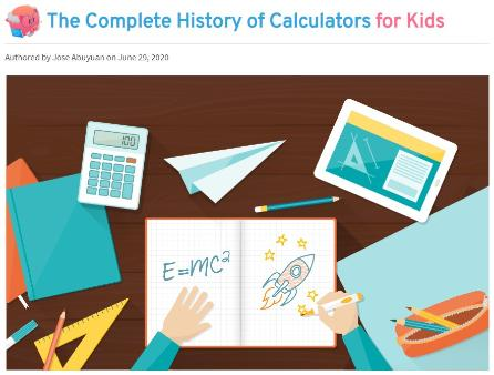The Complete History of Calculators for Kids