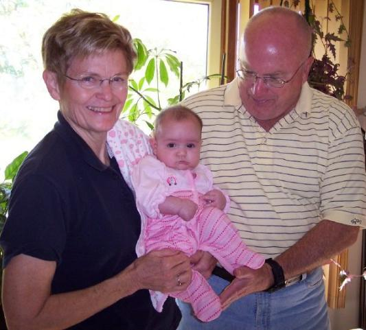 Grandma and Grandpa drove from Minnesota to meet me!
