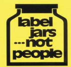 Label Jars, Not People