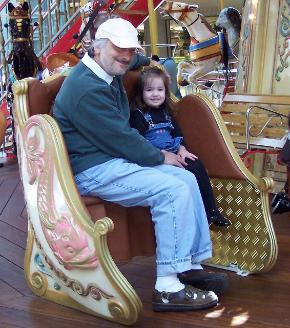 On the merry-go-round with Daddy and ...