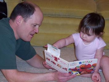 Uncle Andy is most excellent book reader.
