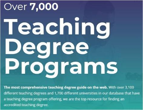 Teaching Degree Programs